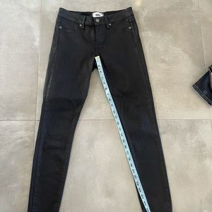 Paige Black Silk Verdugo Ankle Jeans